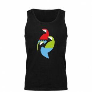 Męska koszulka Jaskrawe papugi