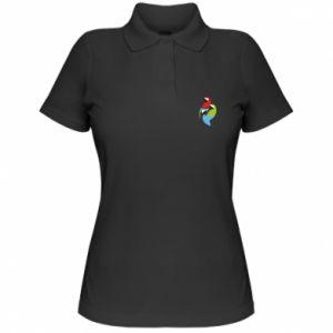 Damska koszulka polo Jaskrawe papugi