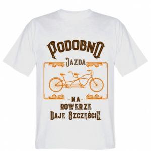 Koszulka Jazda na rowerze daje szczęście