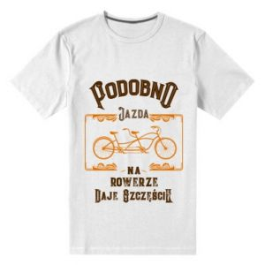 Men's premium t-shirt Cycling gives you happiness