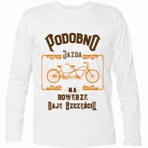 Koszulka z długim rękawem Jazda na rowerze daje szczęście