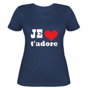 Damska koszulka Je t'adore