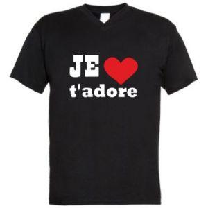 Męska koszulka V-neck Je t'adore