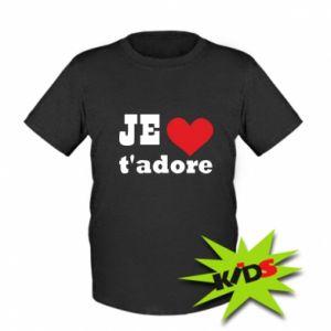 Dziecięcy T-shirt Je t'adore