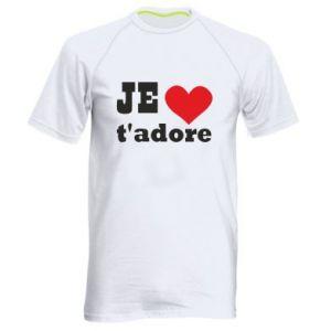 Męska koszulka sportowa Je t'adore