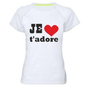 Damska koszulka sportowa Je t'adore