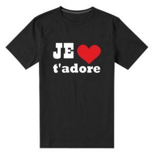 Męska premium koszulka Je t'adore