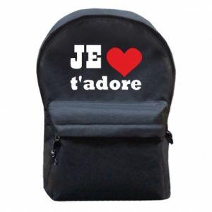 Plecak z przednią kieszenią Je t'adore
