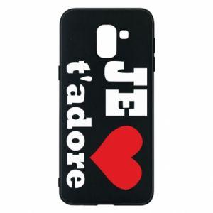 Etui na Samsung J6 Je t'adore