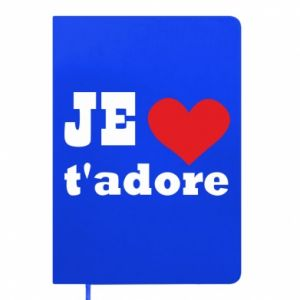 Notepad Je t'adore