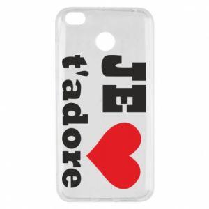 Etui na Xiaomi Redmi 4X Je t'adore