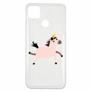 Xiaomi Redmi 9c Case Golden Horn Unicorn