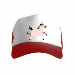 Kid's Trucker Hat Golden Horn Unicorn