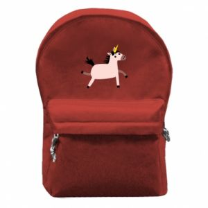 Backpack with front pocket Golden Horn Unicorn