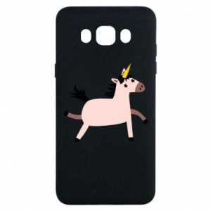 Samsung J7 2016 Case Golden Horn Unicorn