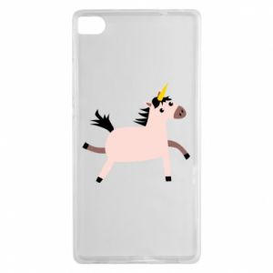Huawei P8 Case Golden Horn Unicorn