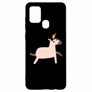 Samsung A21s Case Golden Horn Unicorn