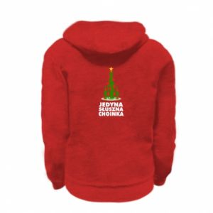Kid's zipped hoodie % print% The only right tree