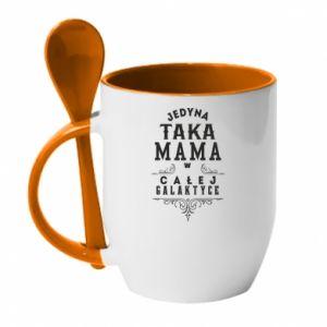 Kubek z ceramiczną łyżeczką Jedyna taka mama