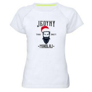 Koszulka sportowa damska Jedyny taki Święty Mikołaj