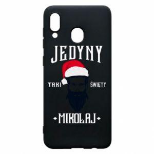 Etui na Samsung A20 Jedyny taki Święty Mikołaj