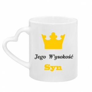 Mug with heart shaped handle His Highness Son