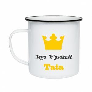 Kubek emaliowane Jego Wysokość Tata