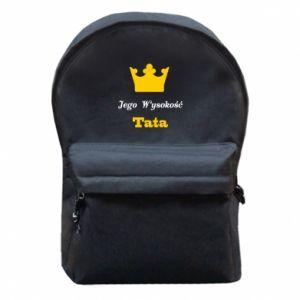Plecak z przednią kieszenią Jego Wysokość Tata