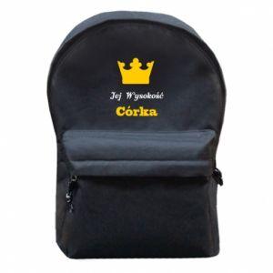 Plecak z przednią kieszenią Jej Wysokość Córka