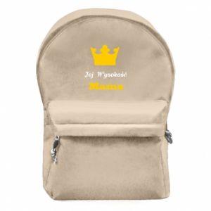 Plecak z przednią kieszenią Jej Wysokość Mama