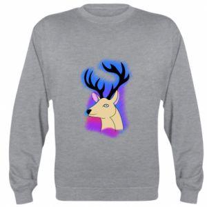 Sweatshirt Deer on a colored background