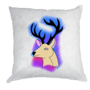 Pillow Deer on a colored background