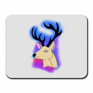 Mouse pad Deer on a colored background