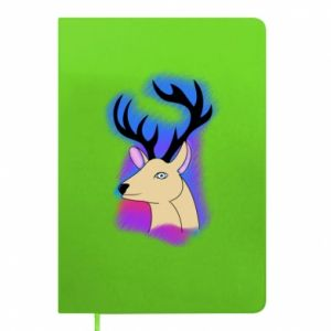 Notepad Deer on a colored background