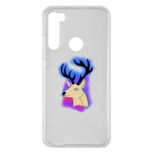 Xiaomi Redmi Note 8 Case Deer on a colored background
