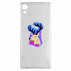 Sony Xperia XA1 Case Deer on a colored background