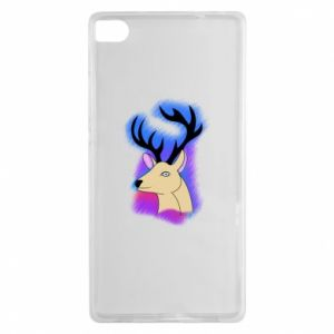 Huawei P8 Case Deer on a colored background