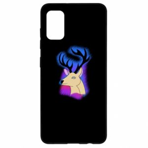 Samsung A41 Case Deer on a colored background