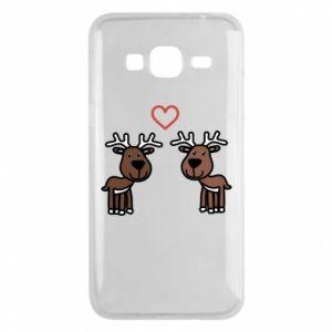 Phone case for Samsung J3 2016 Deer in love