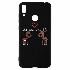 Huawei Y7 2019 Case Deer in love