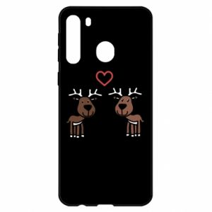 Samsung A21 Case Deer in love