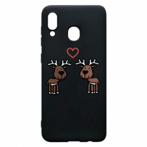 Phone case for Samsung A20 Deer in love