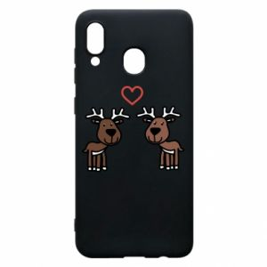 Phone case for Samsung A30 Deer in love