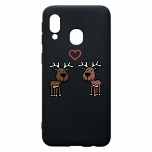 Phone case for Samsung A40 Deer in love