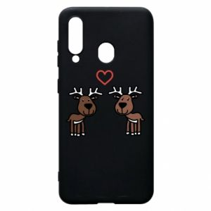 Phone case for Samsung A60 Deer in love