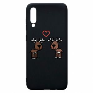 Phone case for Samsung A70 Deer in love