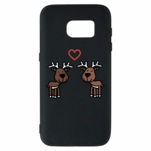 Phone case for Samsung S7 Deer in love