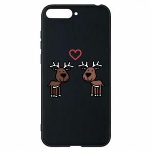 Phone case for Huawei Y6 2018 Deer in love