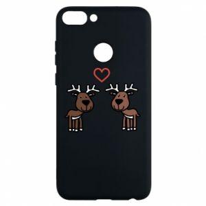 Phone case for Huawei P Smart Deer in love