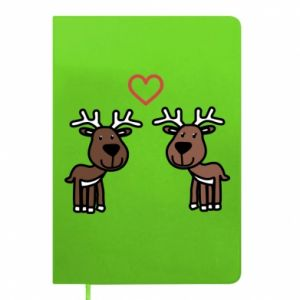 Notepad Deer in love